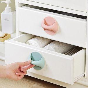 Handles & Pulls 2pcs Round Auxiliary Knobs Cabinet Window Sliding Door Self-Adhesive Wardrobe Refrigerator Handle Kitchen Accessories