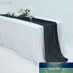 Standrad size gauze table runner party table banner personalize 22inch x 13ft wedding decoration black cloth napkins and runners