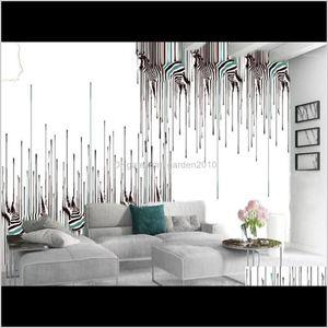 Wallpapers Custom 3D Animai Wallpaper European Style Azebra Ccustom Hand Animal Interior Decoration Silk Wallpaper1 Fqqxa Nihvf