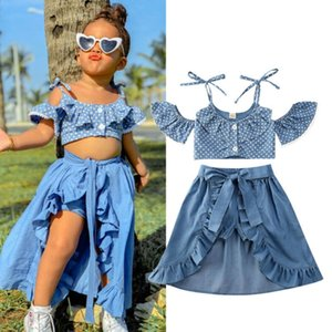 Clothing Sets Children's Summer Suit Girls Polka Dot Sling Top Lace-up Dovetail Skirt Shorts Three-piece kids designer clothes