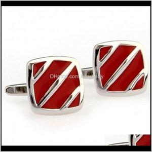 Fashion Red Black Blue Enamel Epoxy Cufflink Link 1 Pair Big Promotion Data 3Ibhl Links Ikh49