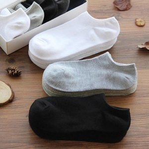 Men's Socks 5 Pairs Men Breathable Sports Solid Color Boat Comfortable Cotton Ankle Sock Wholesale Purchase 10 Get Free