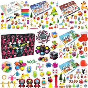 Squid Game Fidget Toys Advent Calendar Blind Box Christmas Count Down for Girls Kids Decompression Toy Surprise Relief Stress Holiday Party Customize Gifts 24PCS