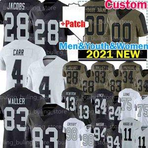 "83 Darren Waller Jersey Josh Jacobs Maxx Crosby Derek Carr Raiders ""Hunter Renfrow Football Las Henry Ruggs Vegas"" Howie Long Charles Woodson Nassib Bo Jackson"