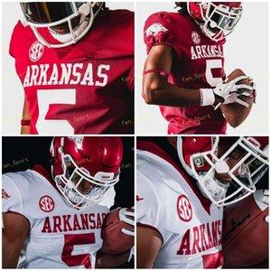 NCAA College Jerseys Arkansas SEC 5 Rakeem Boyd 13 Feleipe Franks 16 Treylon Burks 33 Treylon Burks Custom Football Stitched