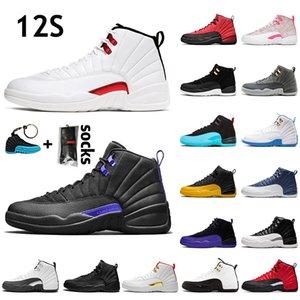 Nike Air Jordan Retro 12 Jumpman 12s TWIST Hommes Femmes Chaussures de Basketball Dark Concord University Gold Flu Game Indigo Hommes Femmes Baskets Baskets 36-47