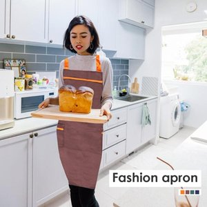 Aprons Cooking Kitchen Waterproof For Women Men Chef Waiter Cafe Shop Bibs Dining Room Barbecue Apron Bib