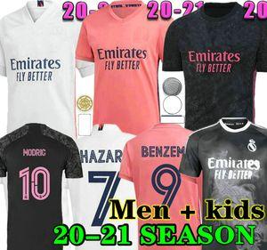 VINI JR 20 21 Real Madrid Футбол Джерси Бензема Модрик Asensio Sergio Ramos Hapard New 2020 2021 Мужчины для взрослых + Детский комплект Спортивная футбольная рубашка