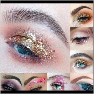 Kaş Arttırıcılar Gözler Sağlık Damla Teslimat 2021 34 Renk Sequins Jel İnci Parlayan Göz Farı Göz Makyaj Manikür DIY Güzellik Patlama 3nu