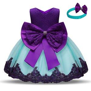 1ª fiesta de cumpleaños Baby Girl Ropa Infant Girls Bautismo Vestido 1-5 años Princess Pageant Niños Vestidos para Niñas Ropa1 621 Y2