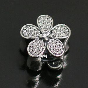 2015 New 925 Sterling Silver Dazzling Daisy Charm Pendant Bead Fits European Pandora Jewelry Bracelets & Necklace