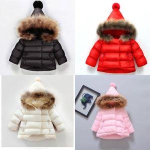 Girls Coat Cotton Warm Jacket For Baby Girls Winter Fur Hooded Coat Kids Outerwear Children Clothing Toddler Girl Jackets 813 V2