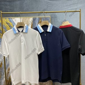 21ss Summer Designer Luxury Ropa de lujo Polo Polo Classic Manga Corta Carta Imprimir T-Shirt Costo Cuello Tshirts Dress T Shirt Tops de algodón Tee