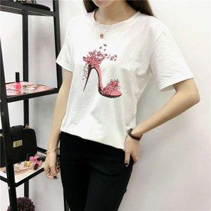 2020 summer new Korean large high heel shoes loose short sleeve fashion base shirt women's T-shirt
