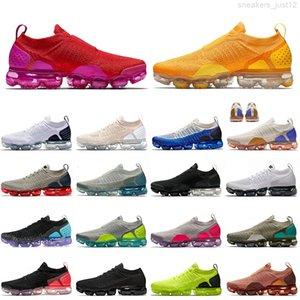 Top Qualité Voparms Hommes Femmes Fly Run Courir Université Or Rouge Voile Triple Mica Vert Moon Formateurs de particules Sport Chaussures de sport