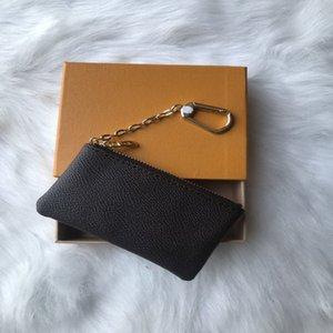 Ключ чехол удерживает 4 цветные моды классические женщины держатель монет кошелек маленькие кожаные кошельки высочайшего качества HEI