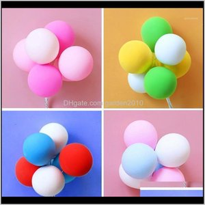 Other Festive & Supplies 6Pcs Set Colorful Pink Blue Purple Balloons Cake Topper For Kid Birthday Party Decoration Dessert Lovely Gift 0W7Ny