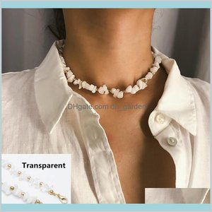 Style White Transparent Color Collar Crystal Chic Retro Creative Summer Choker Women Girls Jewelry Gifts 13Gb6 Beaded Necklaces Pu35G