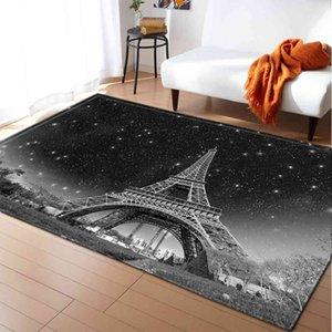 Paris Eiffel Tower Series , Bedroom Non-slip \floor Mat, Home Decoration And Family Living Room Carpet