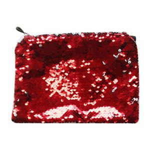 Sublimation Blank Girls Cosmetic Bag Solid Color Women Girl Portable Mermaid Sequins Makeup Bags Pencil Case 5 5yj J2 AJHO DCA6