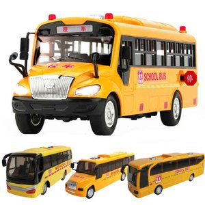 4 Styles Inertial School Bus Model Toys Acousto Optic Vehicle Lighting Up Music Car Toys For Children Youth Birthday Xmas gift A0512