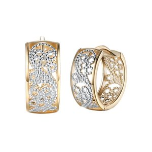 Sell Small Hoop Earrings Stylish Exquisite Gold-Color Cuff For Women Men Couple Romantic Jewelry Nice Gifts & Huggie