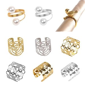 Wedding Event Decoration Crafts Bows Holder Handmade Party Supplies Gold Silver Napkin Ring Chairs Buckles Rhinestone Rings