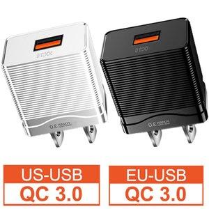 Mini Portable QC3.0 FAST RÁPIDO RÁPIDO EU EU EE. UU. EE.UU. AC Inicio de la pared Enchufe para iPhone 11 12 Samsung Tablet PC altavoz