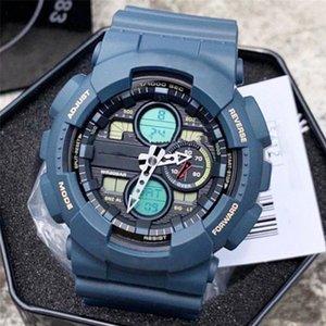 Повседневная мужская 140 кварцевых часов DZ7333 World Time Водонепроницаемый и ударопрочный высококачественный светодиодный цифровой дисплей