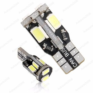50Pcs Lot White T10 W5W 5630 5730 10SMD LED Canbus Error Free Car Bulbs 168 194 Clearance Lamps License Plate Reading Lights 12V