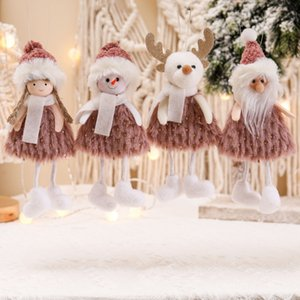 Christmas Decorations Santa Claus Snow Angel Doll Christmas Tree Pendant Home Decor Gift w-1182
