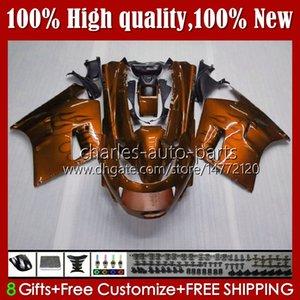 Body Kit For KAWASAKI NINJA ZX11R ZZR 1100 ZX-11 R ZZR1100 ZX11 R ZX 11 R 11R 31HC.117 ZX-11R 1990 1991 1992 1993 1994 1995 ZZR-1100 96 97 98 99 00 01 OEM Fairings orange flames