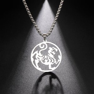 Pendant Necklaces My Shape Chinese Vintage Tiger For Men Stainless Steel Necklace Animal Ethnic Jewelry Amulet Talisman