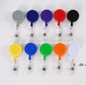 Bobina Bobina Retrátil Plana Personalizado Pull Badge Chaveiro Retrátil Chaveiro Nome ID Nome Tag Titular EWC7139