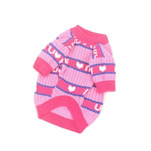 Stylish Pets Sweater Dog Apparel High Elasticity Soft Touch Cat Coat All Seasons Knitting Bulldog Teddy Sweaters