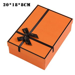 Christmas Gift Box With Bowknot  Paper Bag For Holiday Decorative Wrapping Packaging REME889 Wrap