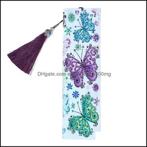 Bookmark Desk Aessories Supplies Office School Business & Industrialbookmark 5D Diy Special Shaped Diamond Painting Leather Tassel Embroider
