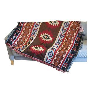 Aztec Tuch Matte Wurfwand Hanging Baumwolle Teppiche Klassische gewebt Maschine Waschbar Picknick Sofa Decke Home Decor 130x160cm 765 R2