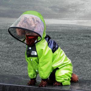كلب معطف واق من المطر الكلب الوجه كلب الملابس بذلة ماء الكلب سترة الكلاب مقاومة للماء الملابس للكلاب معطف الحيوانات الأليفة