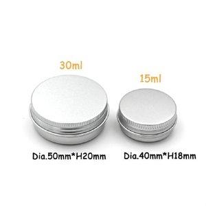 15 ml Metal Alüminyum Şişeler Teneke Dudak Balsamı Konteynerler Boş Kavanoz Vida Üst Teneke Kutular Beyaz Altın Siyah OOD5985