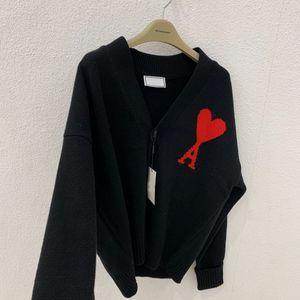Kadınların Örmekleri, Gevşek Fransız Bahar Kalp Mektup V Yaka Kazak Moda Hırka Ceket Kadın S-XL