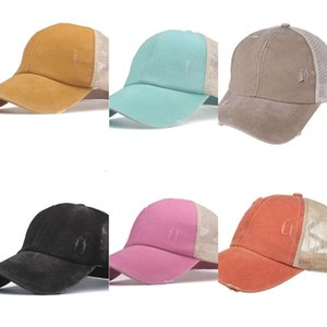 i2021cloth Cross ponytail baseball cotton embroidery men's cap 2020 new sun hat