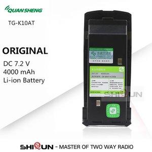 Walkie Talkie QuanSheng TG-K10AT 10W 10km TG K10AT Powerful Talkies UHF400-470MHz Two Way Radio With 4000mAh Battery Pack