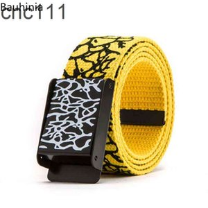 2021 New Korean Version Of The Trend Burst Pattern Graffiti Casual Canvas For Men And Women Couples High Quality Belt