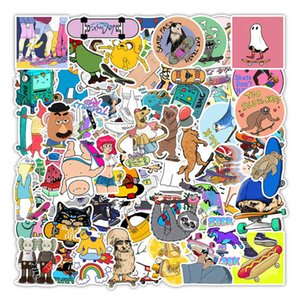 100 Cartoon Skateboard Series Graffiti Sticker Bicycle Refrigerator Luggage Compartment Decoration 3JEA723