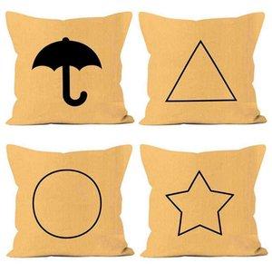 Double sides print squid game Ponkan sugar cake pillow case throw cushion covers star square circle triangle shapes peach skin velvet 45 x 45 pillowcases GO4AJIP