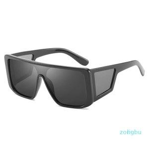 Women's Men's Siamese Sunglasses Men's Big Frame Sunglasses Siamese Lens Brand Designer Men's Sunglasses HD Lens