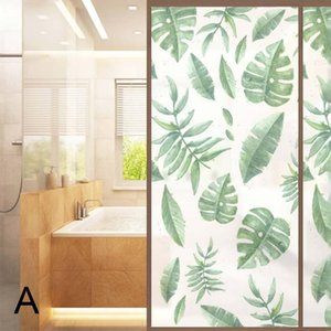 Window Films Self-adhesive Frosted Leaves Glasses Stickers Matte Pads Privacy For Bathroom Living Room IQ6 Wall