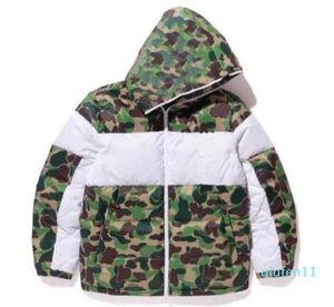 Hiver Mens Design Veste Mode Camouflage Down Vestes Manteau avec motif Mens Parkas Trend Letter Streetwear S-3XL