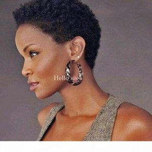 Afro kinky curly Pixie Cut cheap wigs short human hair wigs full density front bob lace wigs for black women Brazilian human hai